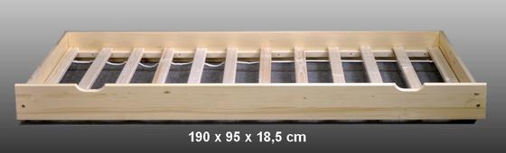 Postel borovice NIVA přírodní 120 x 195  - 6