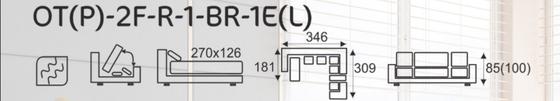 Sedací souprava EXCELENT  OT(P)-2F-R-1-BR-1E(L)  - 8