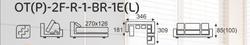 Sedací souprava EXCELENT  OT(P)-2F-R-1-BR-1E(L) - 8/8