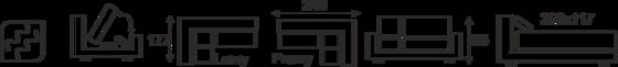 Sedací souprava GUSTO (GAMMA) - vzorník sk. V - 9